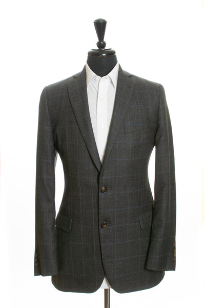 Brooks Brothers Grey Windowpane Check 1818 Fitzgerald Blazer for Luxmrkt.com Menswear Consignment Edmonton