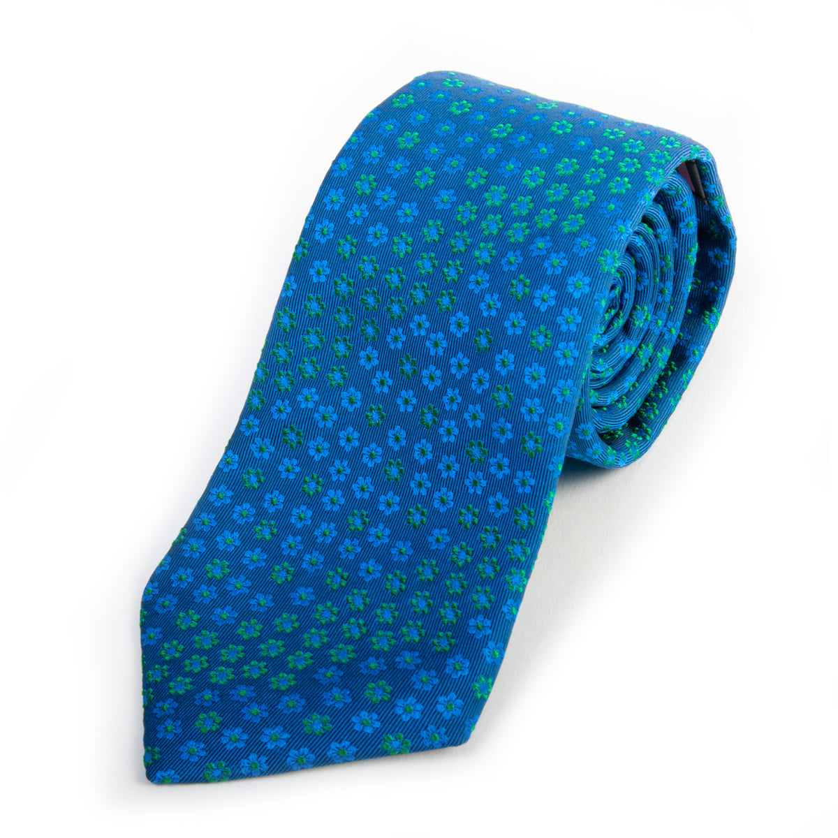 Thomas Pink Blue Floral Woven in England Silk Tie for Luxmrkt.com Menswear Consignment Edmonton