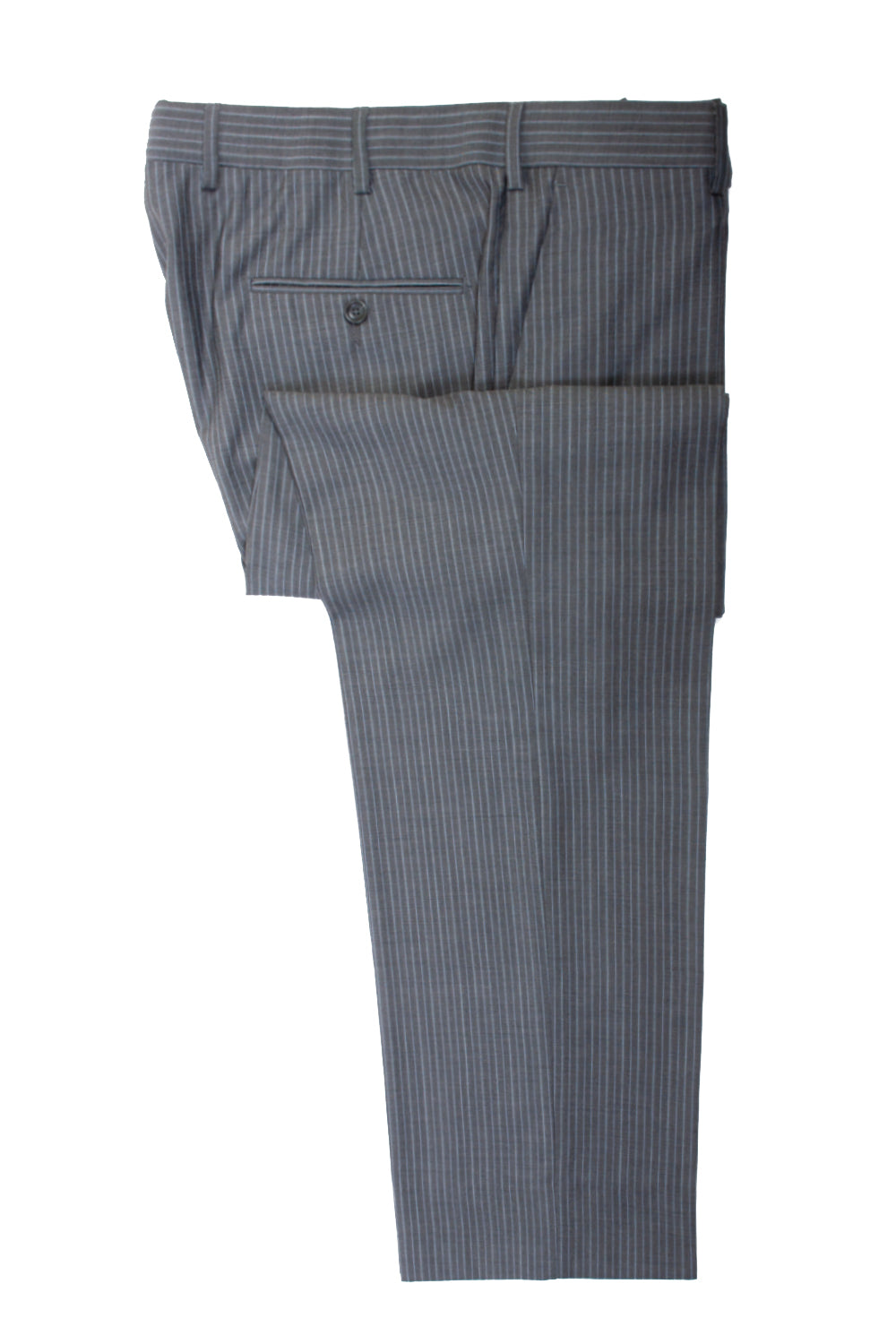 ZZegna Grey Striped City Suit for Luxmrkt.com Menswear Consignment Edmonton