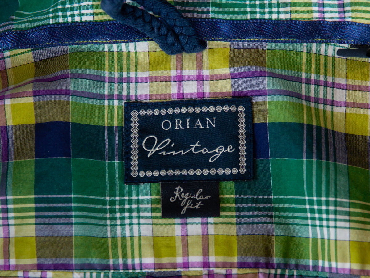 Orian Vintage Green Plaid Regular Fit Shirt for Luxmrkt.com Menswear Consignment Edmonton
