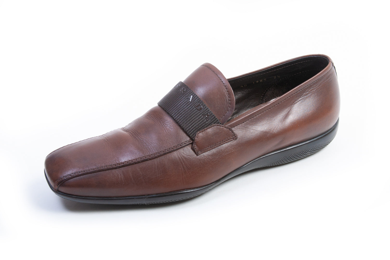 Prada Brown Bicycle Toe Loafers for Luxmrkt.com Menswear Consignment Edmonton