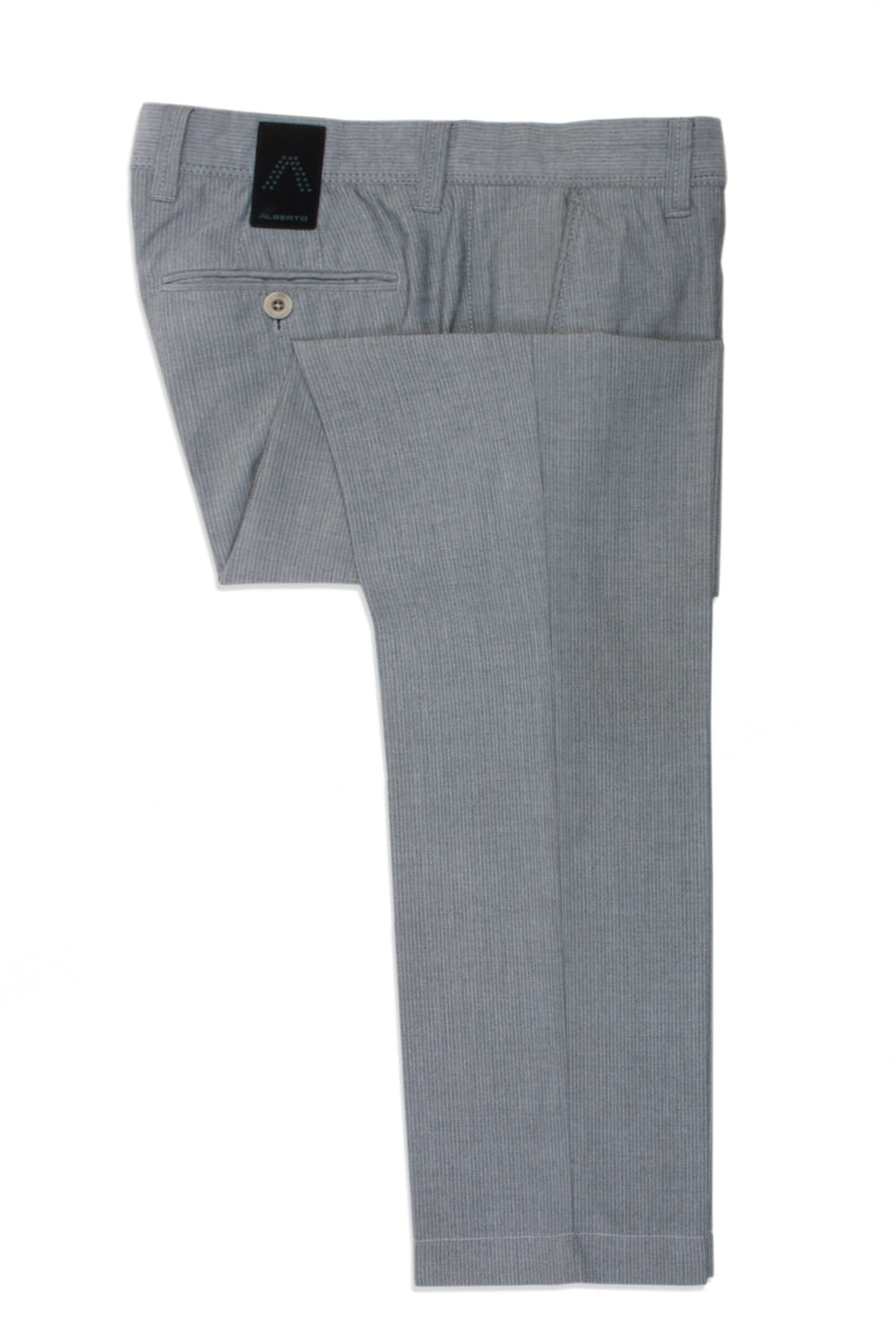 Alberto Grey Stripe Lou Ceramica Modern Fit Pants for Luxmrkt.com Menswear Consignment Edmonton