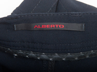 Alberto Midnight Navy Blue Stone Modern Fit Ceramica Pants for Luxmrkt.com Menswear Consignment Edmonton