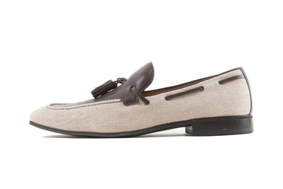 Salvatore Ferragamo Brown Canvas Tassle Loafers. Luxmrkt.com menswear consignment Edmonton.