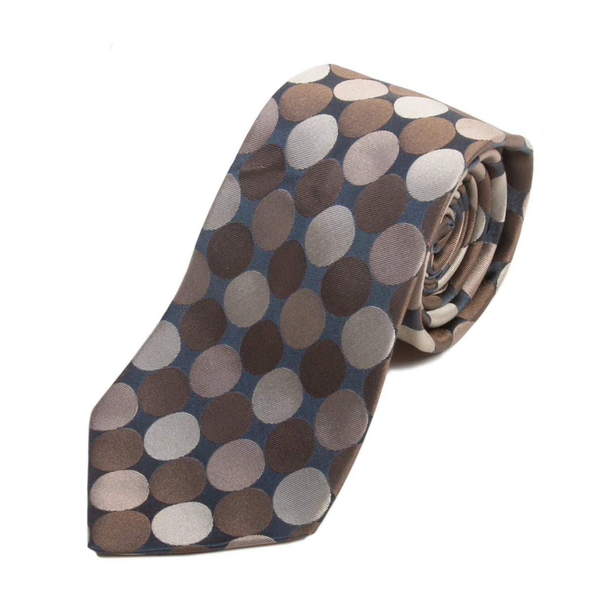 Dolce & Gabbana Brown Dot Silk Tie for Luxmrkt.com Menswear Consignment Edmonton