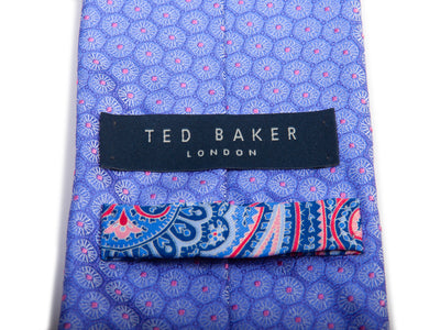 Ted Baker Purple Floral Patterned Silk Tie for Luxmrkt.com Menswear Consignment Edmonton