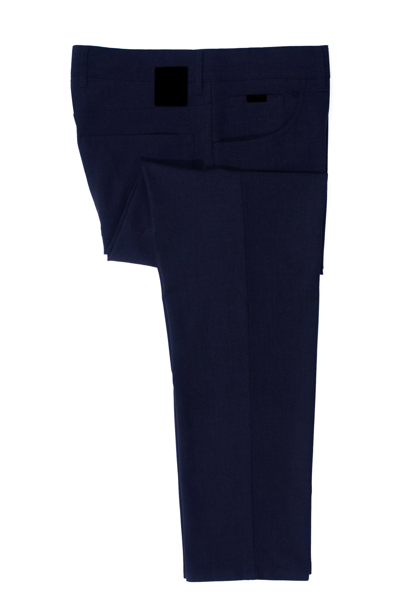 Alberto Dark Navy Tom Ceramica Comfort Fit Pants for Luxmrkt.com Menswear Consignment Edmonton