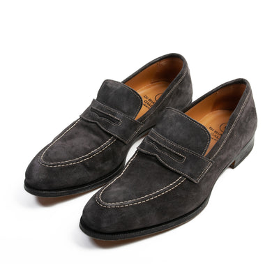 Gallo di Bianco GBF316 Asphalt Grey Suede Loafers for Luxmrkt.com Menswear Consignment Edmonton