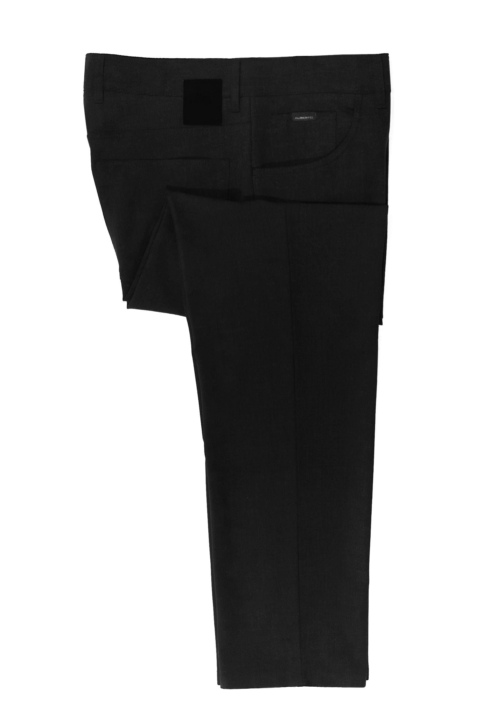 Alberto Black Tom Comfort Fit Ceramica Pants for Luxmrkt.com Menswear Consignment Edmonton