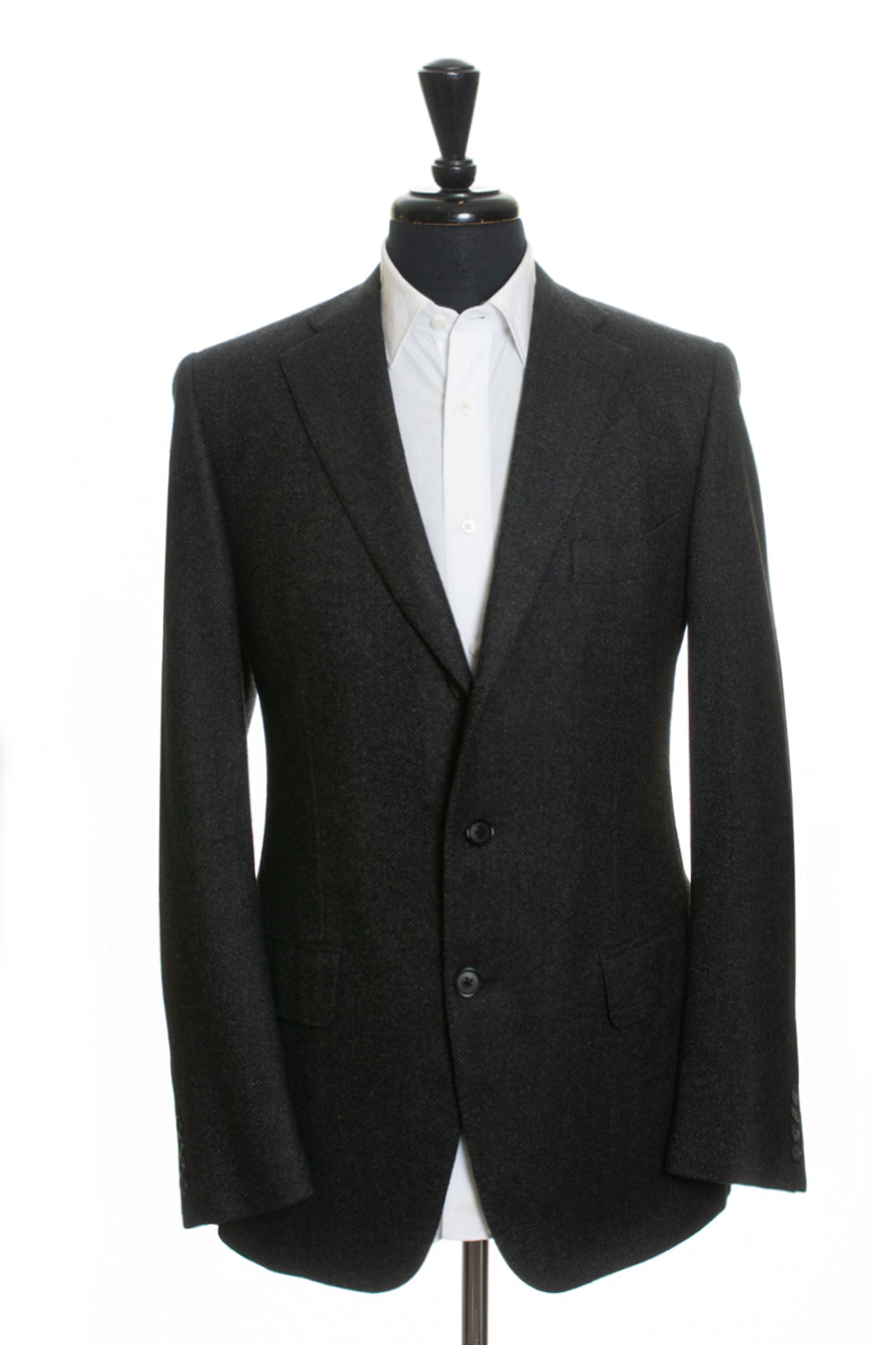 Isaia Charcoal Grey Cashmere Blend Gregory Blazer for Luxmrkt.com Menswear Consignment Edmonton