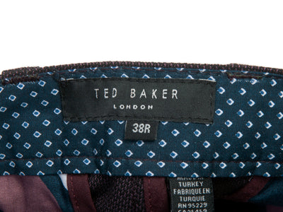 Ted Baker Merlot Twill Willham Trousers for Luxmrkt.com Menswear Consignment Edmonton