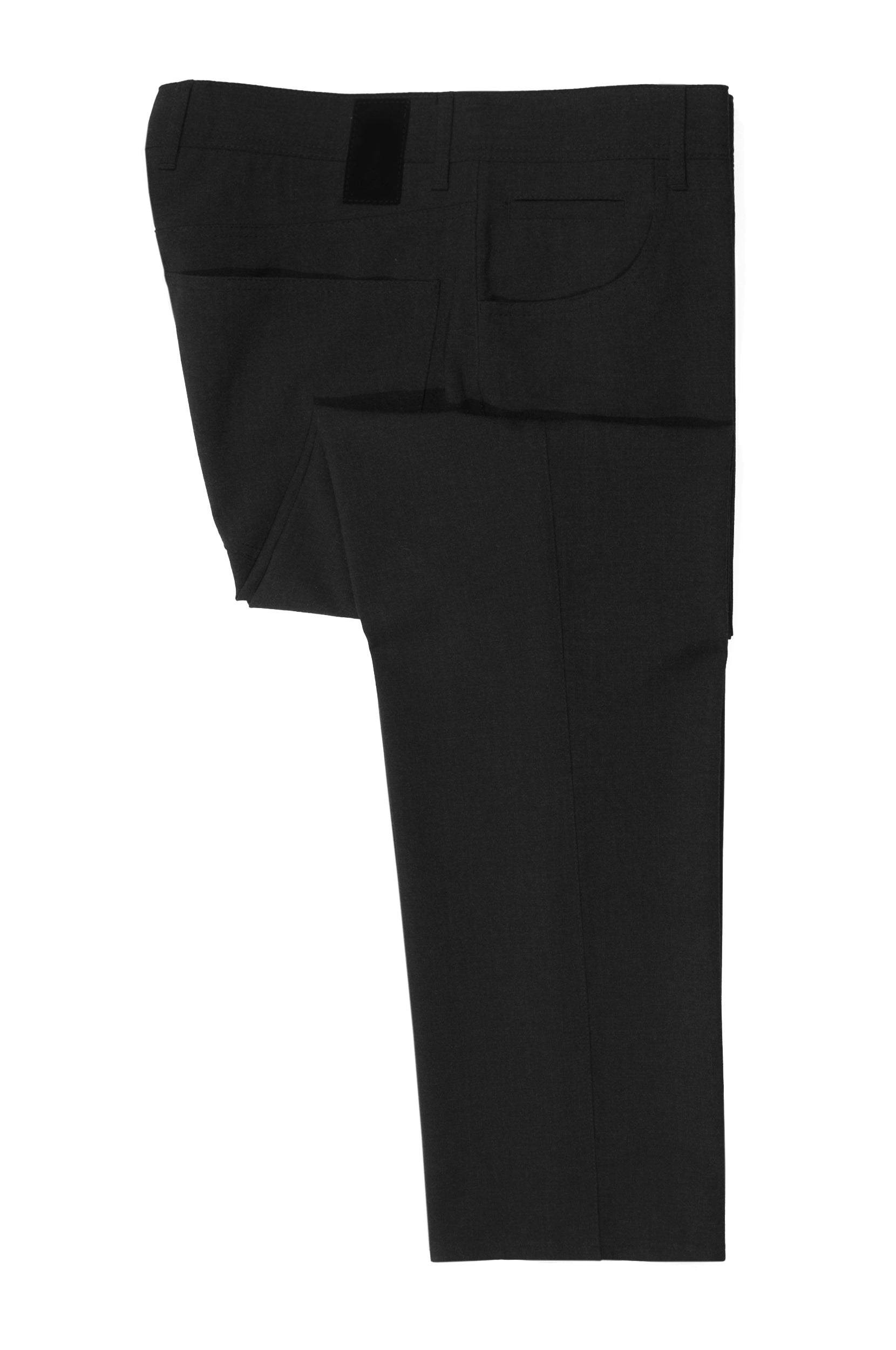 Alberto Black Stone Modern Fit Smart Fancy Trousers for Luxmrkt.com Menswear Consignment Edmonton