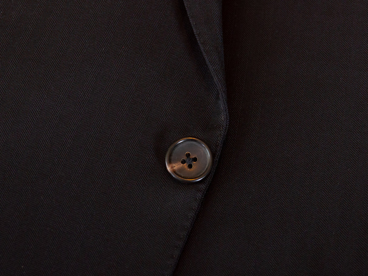 Tom Ford Black Herringbone Wool Fit Y Suit for Luxmrkt.com Menswear Consignment Edmonton