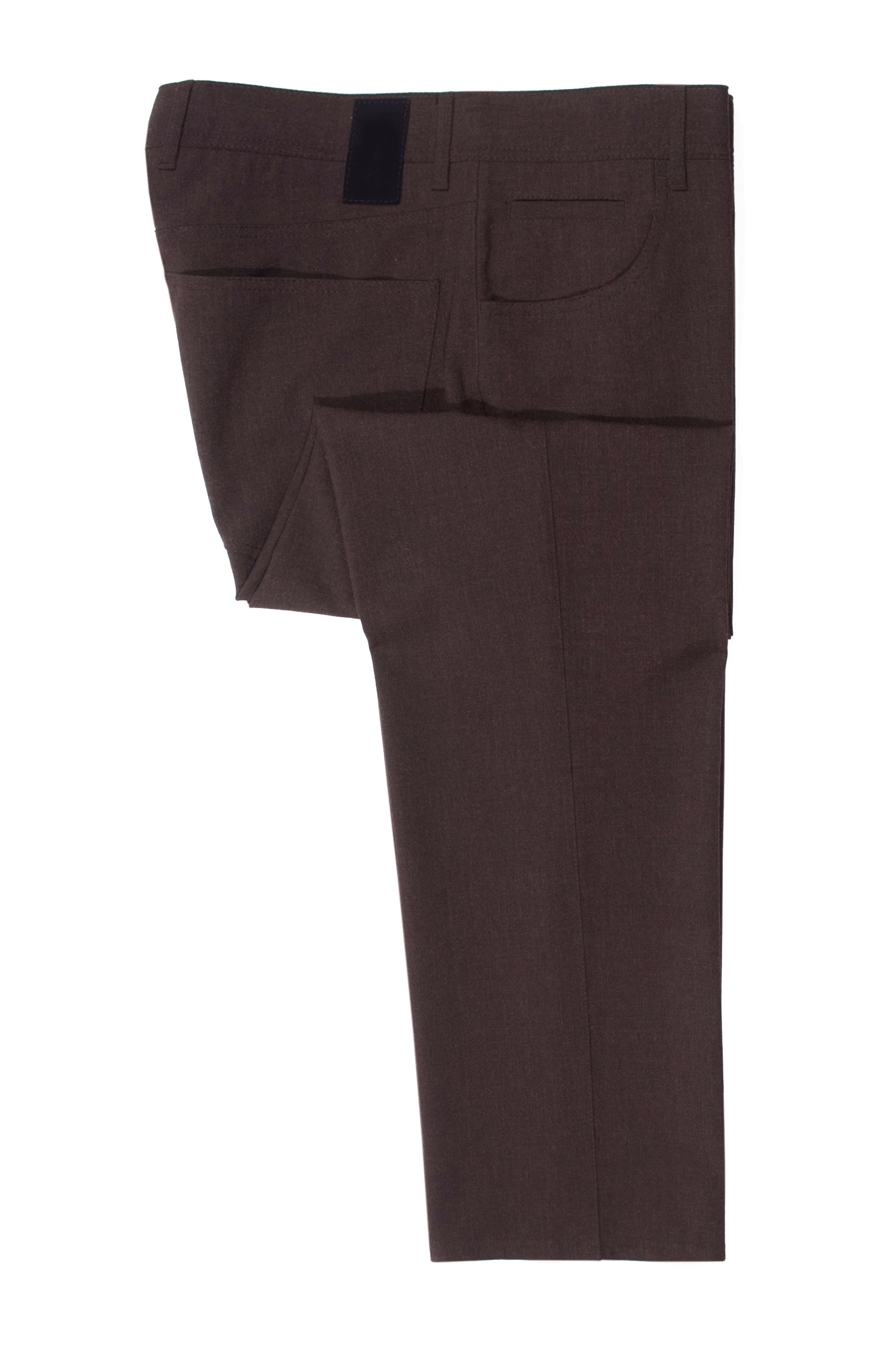 Alberto Dark Brown Stone Modern Fit Ceramica Pants for Luxmrkt.com Menswear Consignment Edmonton