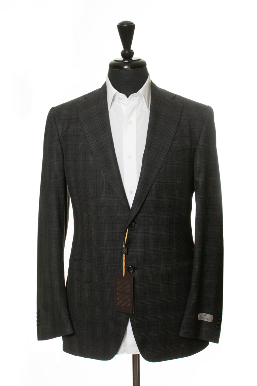 Canali 1934 Exclusive NWT Grey Check Super 150s Wool Suit for Luxmrkt.com Menswear Consignment Edmonton