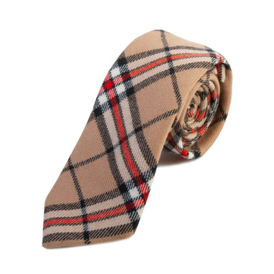 Altea Milano Brown Check Wool Tie for Luxmrkt.com Menswear Consignment Edmonton