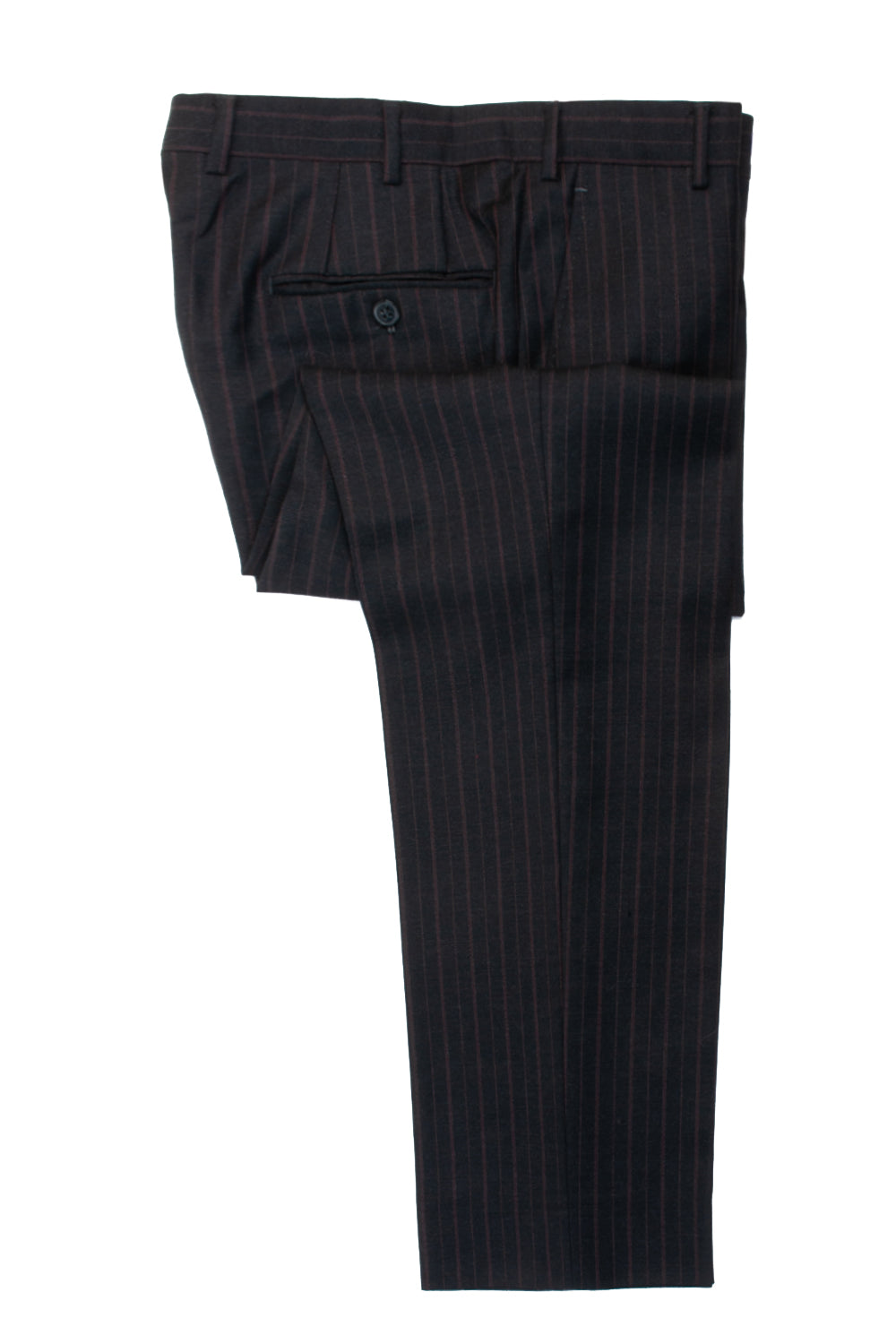ZZegna Dark Grey Striped City Wool Suit for Luxmrkt.com Menswear Consignment Edmonton