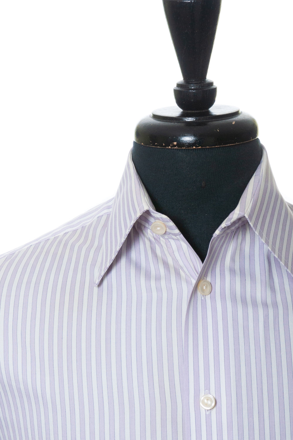 Eton Lilac Striped French Cuffed Shirt for Luxmrkt.com Menswear Consignment Edmonton