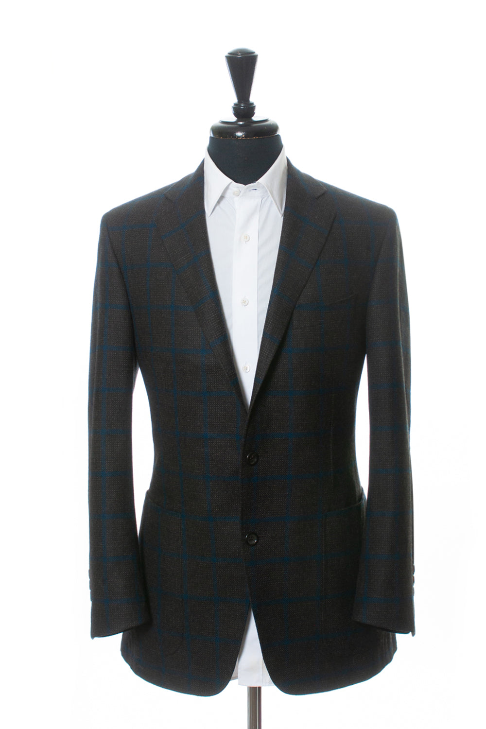 Canali 1934 Navy on Charcoal Check Wool Kei Blazer