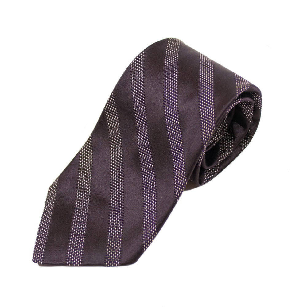 Robert Talbott Best of Class Black Striped Tie