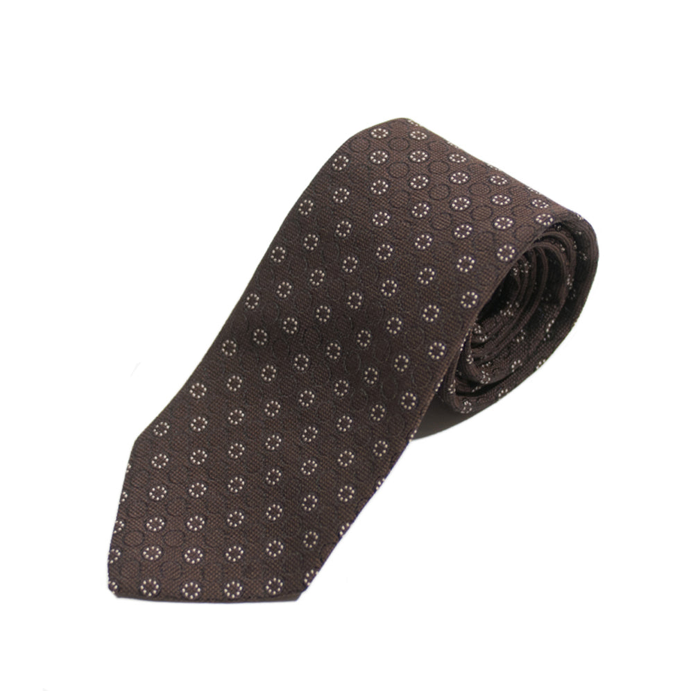 XMI Lab Brown Patterned Tie