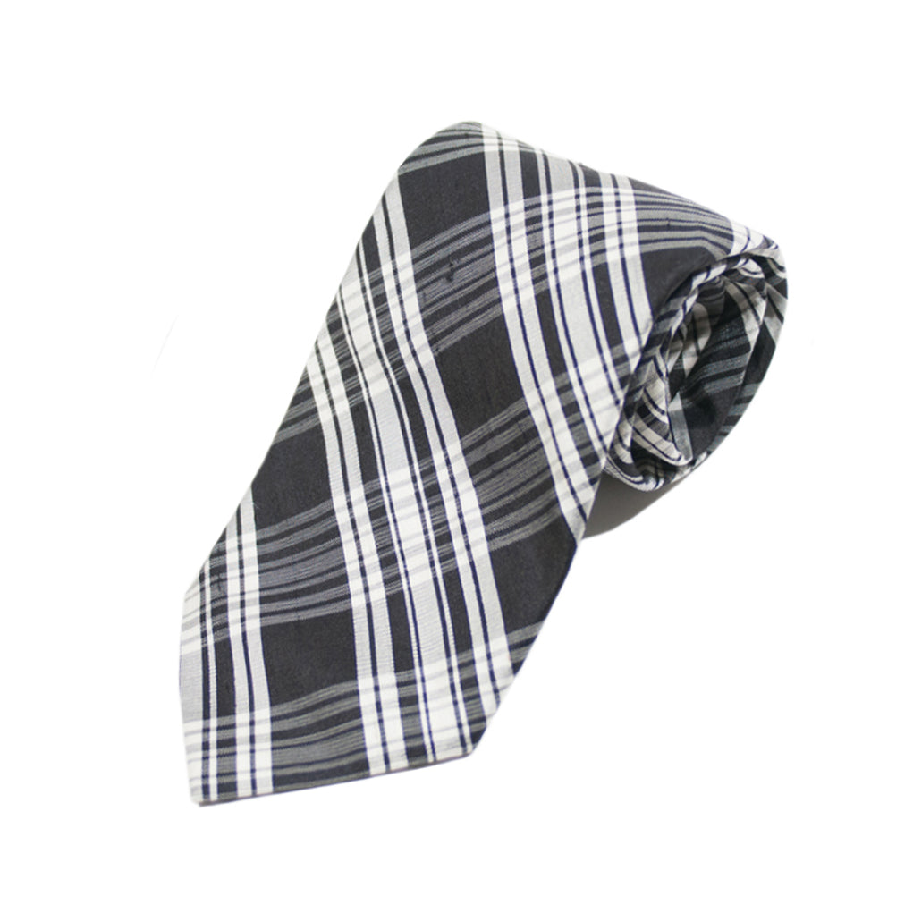 Altea Milano Black Check Italian Silk Tie