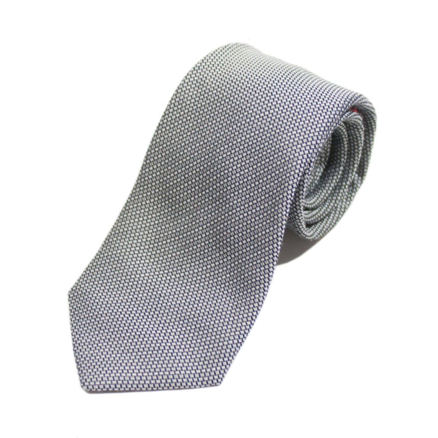 Altea Milano Grey Micro Patterned Italian Silk Tie