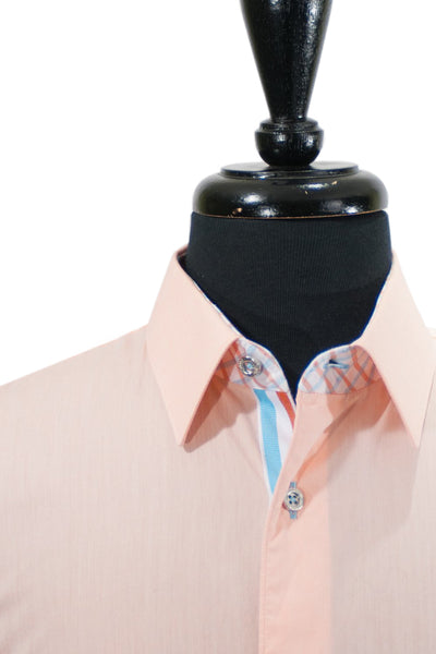 Jared Lang Bold Peach Cotton Shirt XL