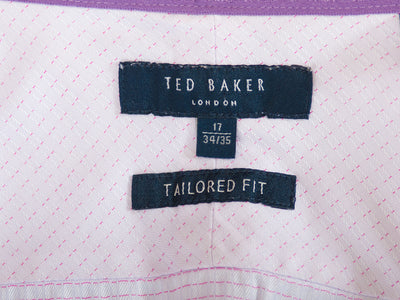 Ted Baker London Pink Patterned Tailored Fit Shirt. Luxmrkt.com menswear consignment Edmonton.