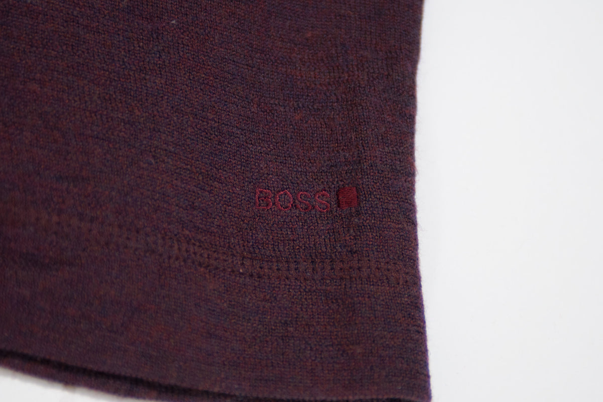 Hugo Boss Orange Label Burgundy V-Neck Sweater