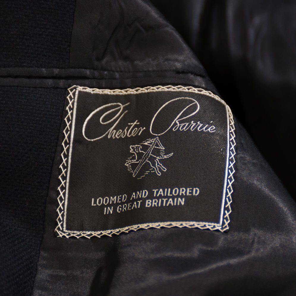 Chester Barrie Navy Wool Coat
