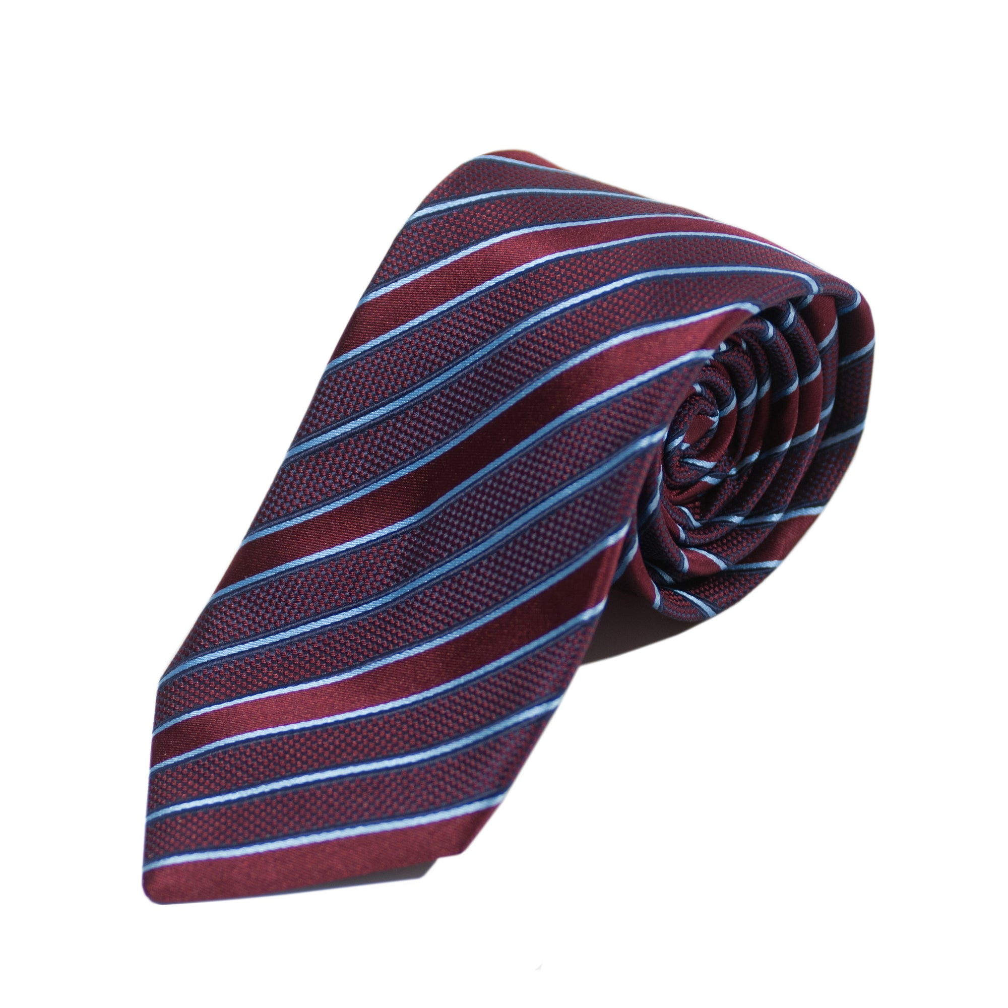 Altea Burgundy Striped Silk Tie