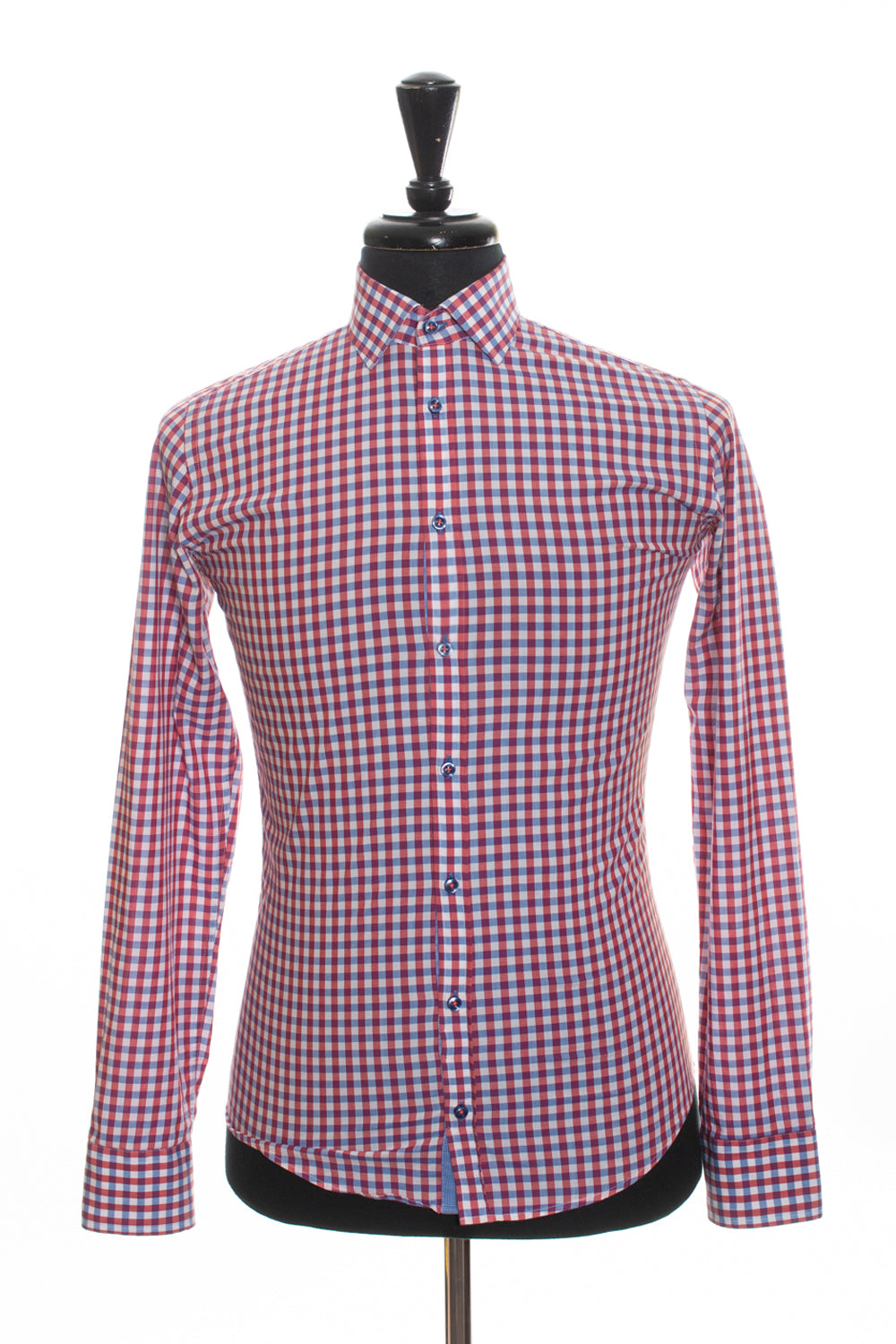 Sand Copenhagen Red Check Cotton Shirt for Luxmrkt.com Menswear Consignment Edmonton