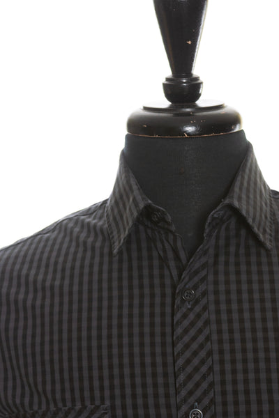 Hugo Boss Grey Slim Fit Oreste Shirt for Luxmrkt.com Menswear Consignment Edmonton