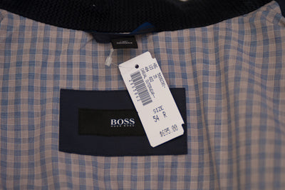 Hugo Boss Navy Blue Camillo Coated Canvas  for Luxmrkt.com mens consignment Edmonton. Jacket