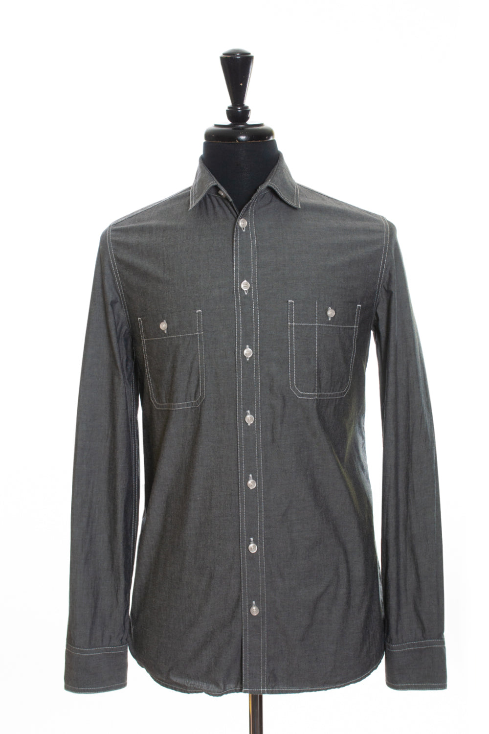 3.1 Philip Lim Grey Cotton Shirt for Luxmrkt.com Menswear Consignment Edmonton