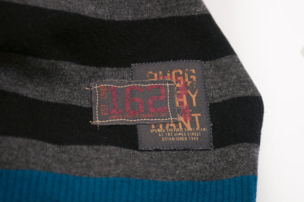 Gant Rugger Grey Striped Lambswool Sweater