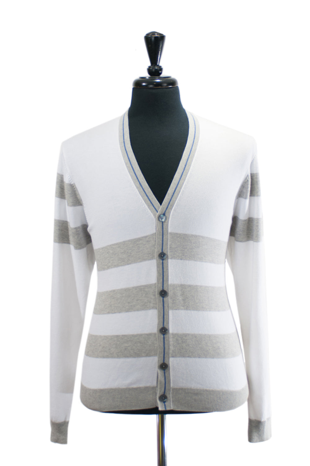 Brooks Brothers Striped Supima Cotton Cardigan. Luxmrkt.com menswear consignment Edmonton