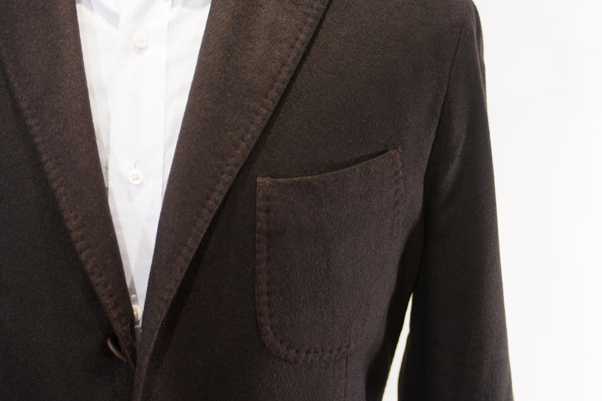 Barbisio Biella 1862 Brown Pure Cashmere Blazer