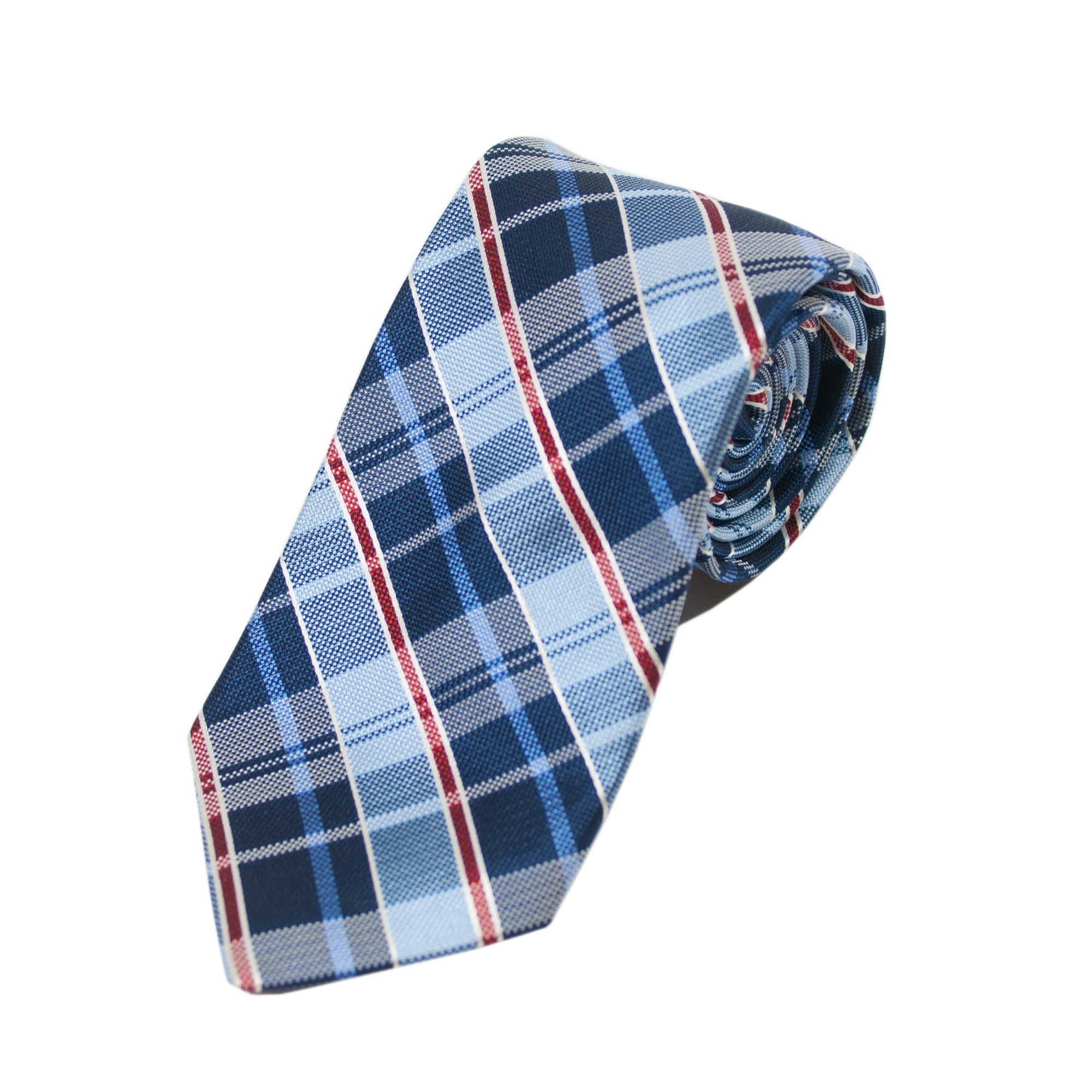 Braemore Blue Plaid Silk Tie