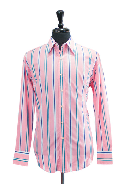 Robert Graham Pink Striped Cotton Shirt