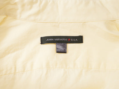John Varvatos Pale Yellow Cotton Button Down Shirt. Luxmrkt.com menswear consignment Edmonton.