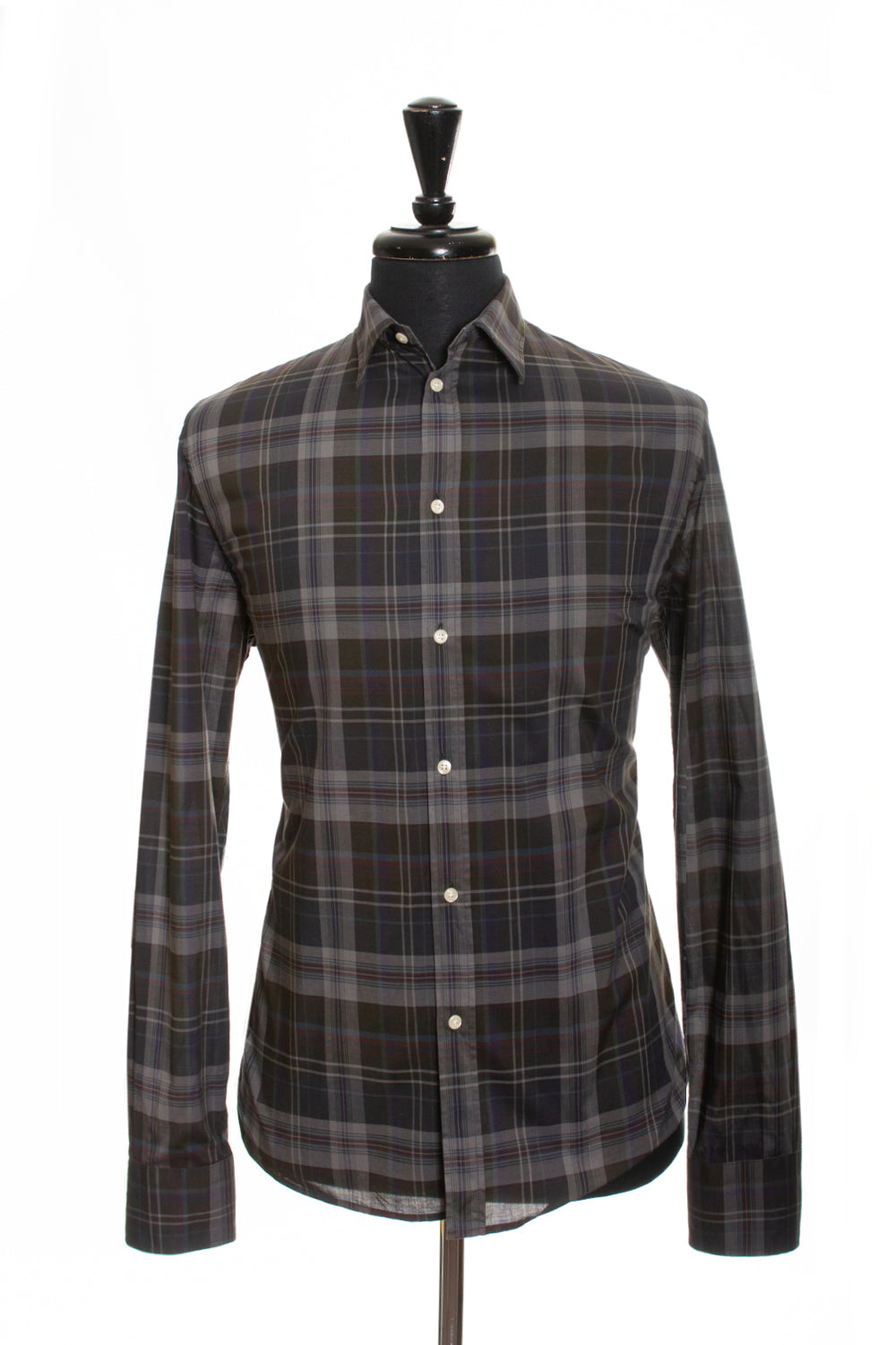 Filippa K Grey Plaid Regular Fit Casual Shirt for Luxmrkt.com Menswear Consignment Edmonton