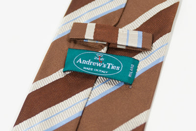 Andrew's Brown Striped Silk Tie