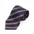 Ermenegildo Zegna Navy Blue Striped Cotton Blend Tie for Luxmrkt.com menswear consignment Edmonton