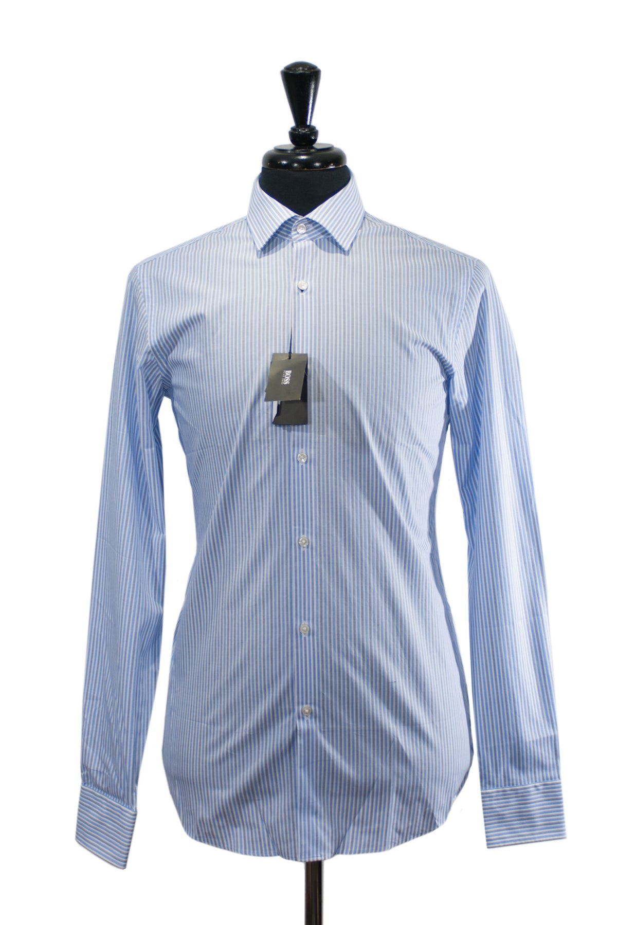 Hugo Boss NWT Blue Striped Sharp Fit Marley Shirt