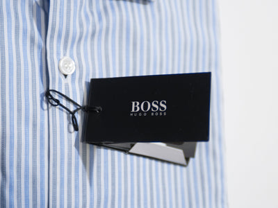 Hugo Boss Blue Striped Sharp Fit Marley Shirt
