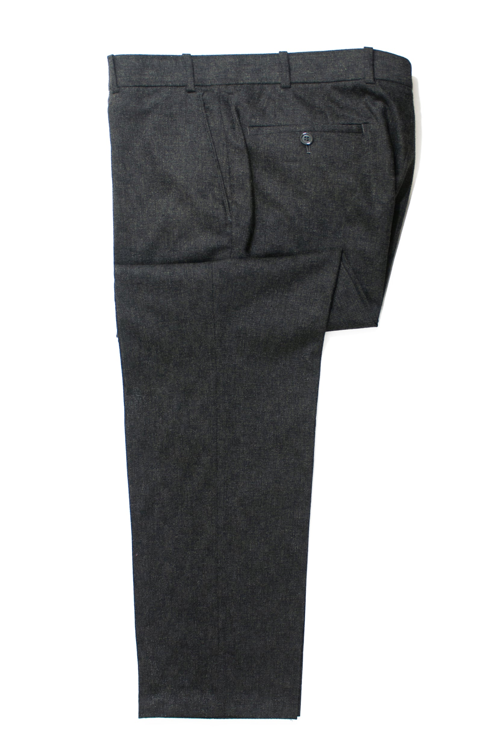 Antonio Valente Charcoal Grey Cashmere Blend Slim Fit Pants