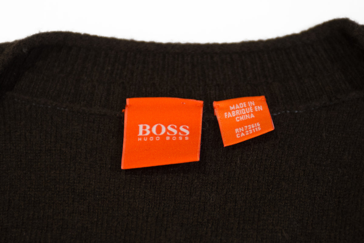 Hugo Boss Brown Virgin Wool Aritomo Vest