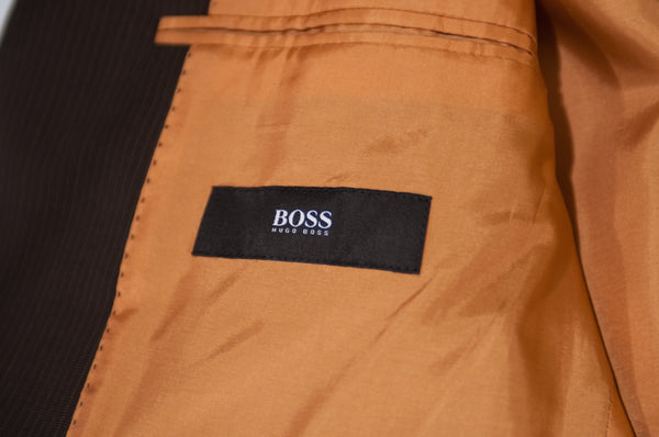Hugo Boss Brown Pinstriped Rossellini Movie Suit